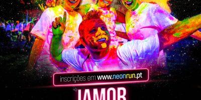 cartaz neon run 2017 jamor
